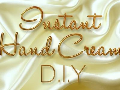 Instant hand cream DIY. Haz tu crema de manos instantánea