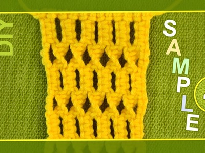 Macrame ABC - pattern sample #4