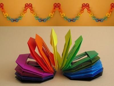 Origami Slinky and Decorative Chain :: Juguete espiral y cadena