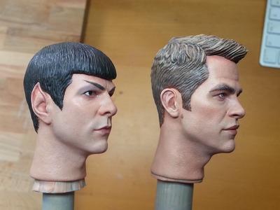 Painting a 1.6 Captain Kirk - Entire process - Part 1