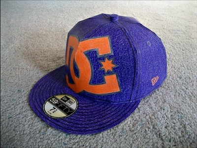 Paper Model of a Purple DC New Era Hat