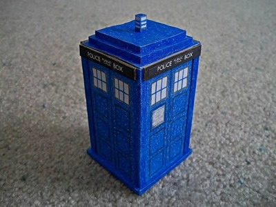 "Paper Model of the Tardis from ""Doctor Who"" #2"