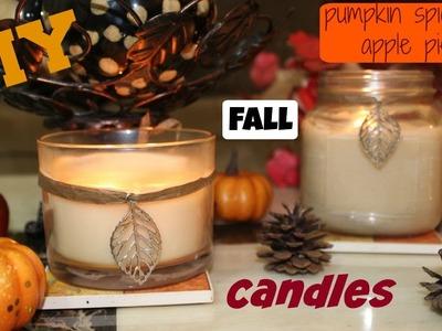 Pumpkin & Apple Spice-DIY FALL CANDLES