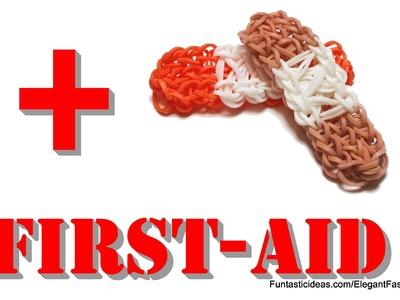 Rainbow Loom Bandage.BandAid.First Aid charms - How to