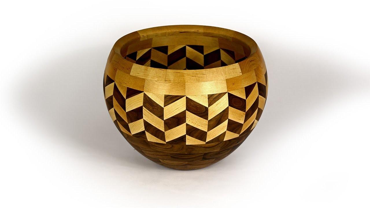 Segmented wood turned Wedding bowl
