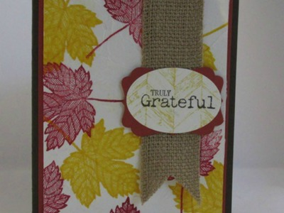 Stampin' Up! Truly Grateful Faux Silk Rubber Stamp Technique