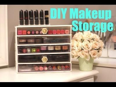 Thrifty DIY Makeup Storage