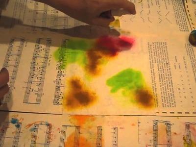Tie-dye baby wipes tutorial