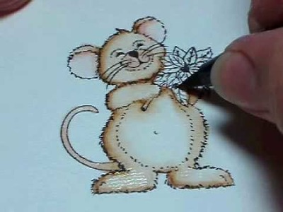 """Tombow Coloring Tutorial """"Christmas Mouse"""""""
