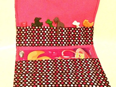 Tutorial :Coloring book, crayons activity bag