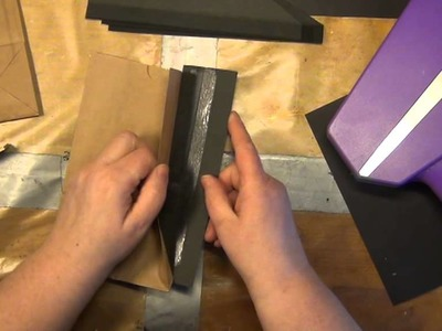 TUTORIAL - HOW TO MAKE A LUNCH BAG ALBUM WITH A TULER BINDING, PART 1 OF 2