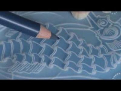 Video Class 4   How to Colour Parchment using Blendable Pencils Seahorse Card