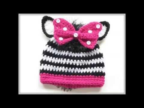 Zebra Beanie Crochet Pattern for Boys or Girls in Newborn