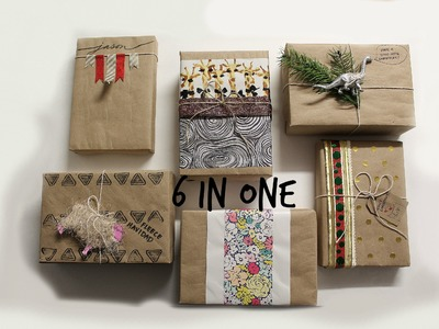 6 Kraft Wrapping Paper Ideas| 6 Ideas de Regalo Papel Kraft
