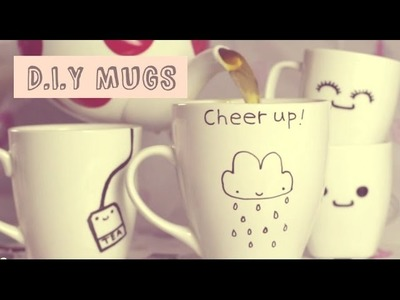 ♡ Adorable D.I.Y Mugs! ♡