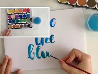 Brushmeetspaper About meeting the paper #5: brush lettering tutorial