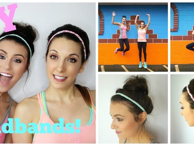D.I.Y. Workout Headbands & Hairstyles! Ft. Thefitswitch