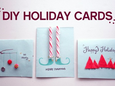 ✂ DIY 3 Christmas.Holiday Cards