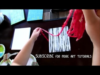 DIY Abstract Yarn Texture Painting Technique