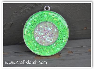 DIY Glitter Resin Pendant   Make Something Monday