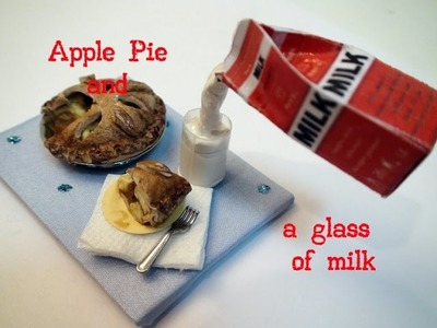 DIY: How To Make Miniature Apple Pie and a Glass of Milk