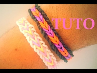 DIY : Loom Bands Bracelet 'Brésilien' ou Fishtail with borders. (Français)