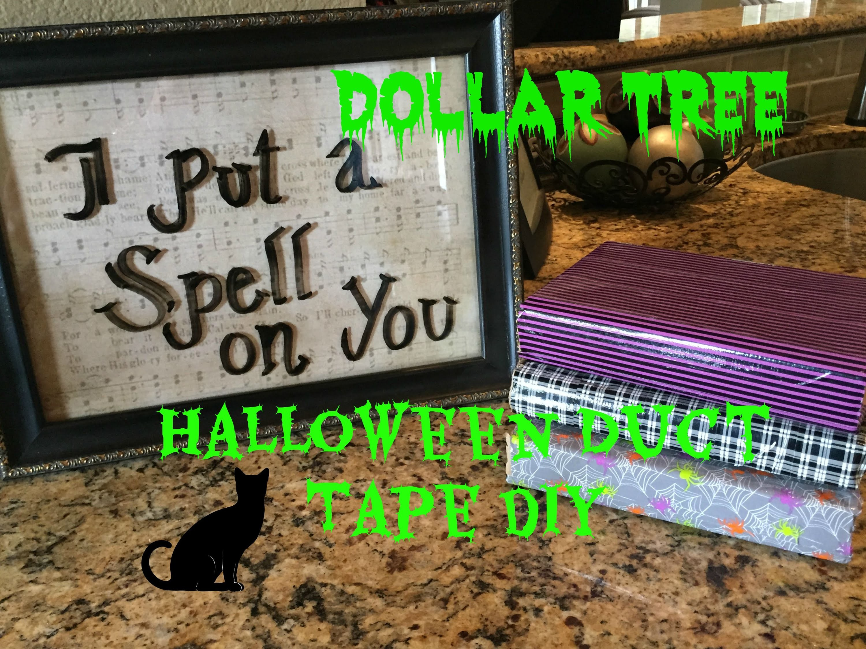 Dollar Tree Halloween Duct Tape DIY!! + Halloween Picture Frame
