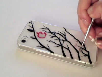 Drawing on iPhone Case: A Bird On The Tree