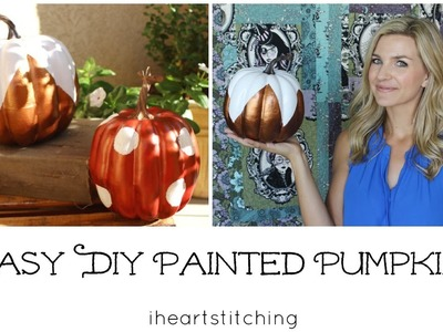Easy DIY Painted Pumpkins
