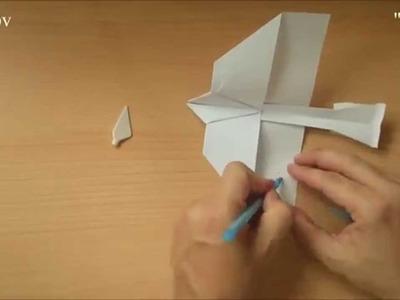 Edepv 009 Lelystad Papieren vliegtuig vouwen. Paper airplane folding. Avion en papier pliage