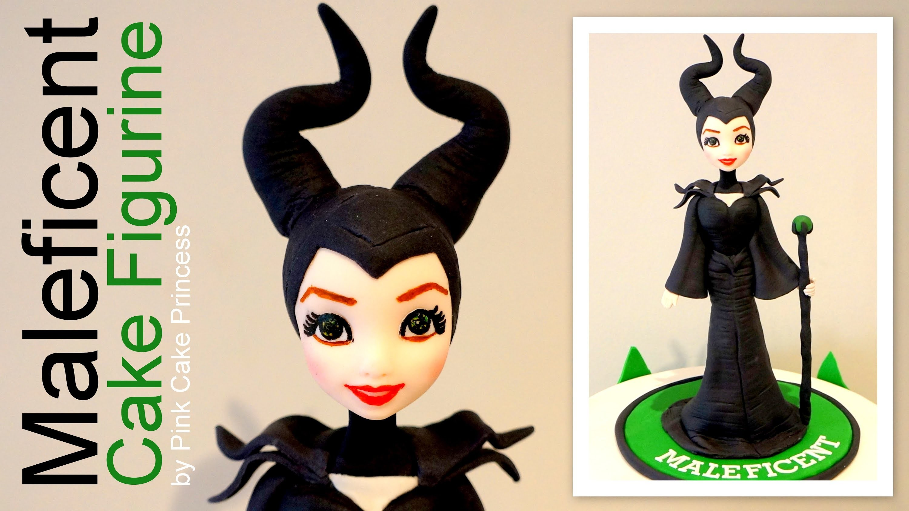 Halloween Maleficent Cake Figurine How to by Pink Cake Princess