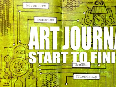How to: Art Journal Page - Pathways