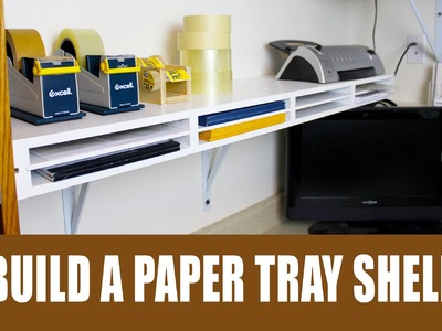 How to build a shelf with built in paper trays