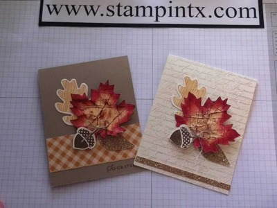 How to Create Beautiful Fall Cards using Stampin' Up! products