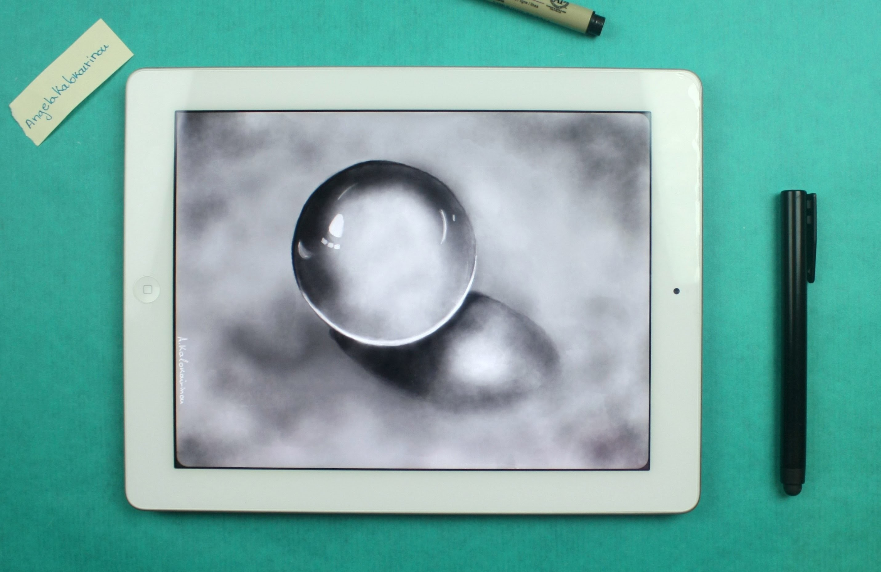How to Draw a Crystal Ball on ipad  With: Paper by fiftythree