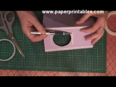 How to make a box book spinner card tutorial