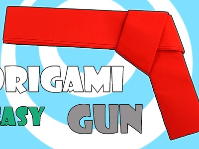 How to Make Easy Paper Origami Gun (Pistol) Tutorial