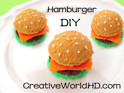 How to Make Hamburger 3D - 3D Printing Pen Creation. Scribbler DIY Tutorial