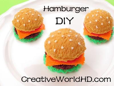 How to Make Hamburger 3D - 3D Printing Pen Creation. Scribbler DIY Tutorial