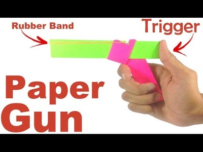 How to Make Paper Gun That Shoots | origami |
