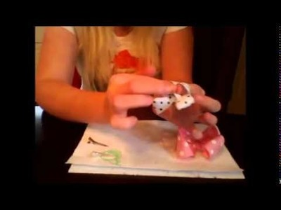 HOW TO stiffen hair bows and make them more loopy