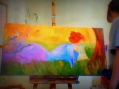 Karrie On Canvas- Karrie Evenson-painting woman- speed version