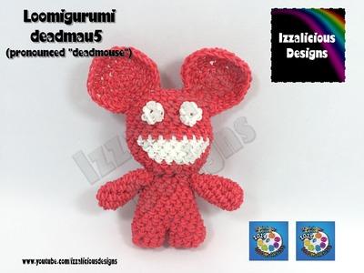 Loomigurumi Deadmau5 (Deadmouse) Tiny Tot Figure - hook only - amigurumi with Rainbow Loom Bands