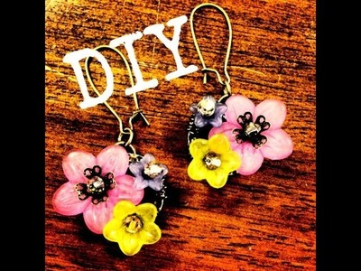 Lucite Flower and TierraCast Earrings DIY December Day 9