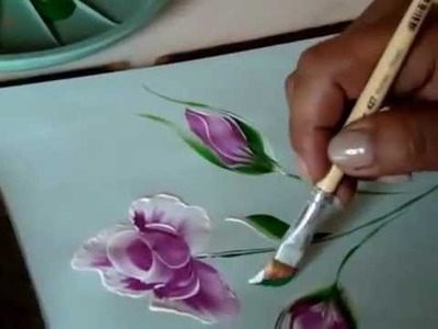 One Stroke Roses And Leaves-One Stroke Technique