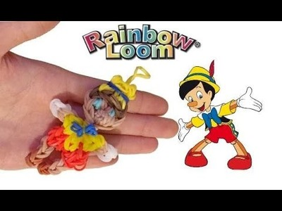 Pinocchio naso 3d con elastici rainbowloom wodden puppen 3d nose
