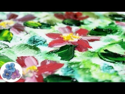 Pintura al Oleo Flores Modernas Oil Painting *How to oil Painting* paso a paso Pintura Facil