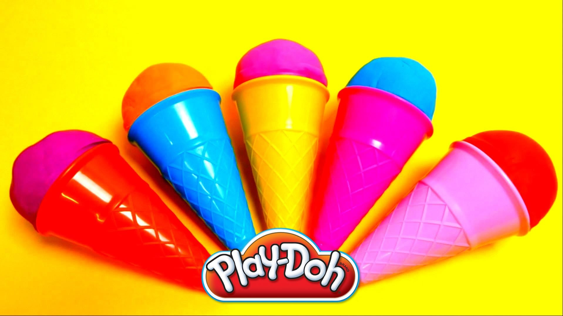 Play-Doh Surprise Egg Ice Cone - Minions, Peppa Pig, Filly Witchy, SpongeBob Toys