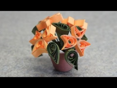 Quilled Miniature plants: Yellow