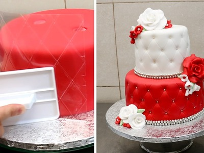 Quilted Cake Decorating Idea by CakesStepbyStep